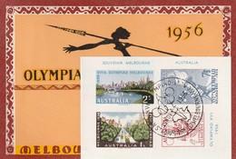 CARTE MAXIMUM -Avec Bloc Souvenir - Jeux Olympiques De Melbourne 1956 - Summer 1956: Melbourne