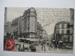 PARIS    -  ANGLE  RUE  RAMEY  ET  RUE  CUSTINE      TRES  ANIME            TTB - Autres