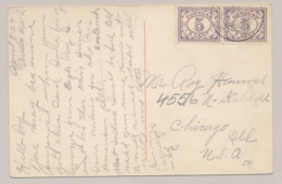 Curacao - 1929 - 2x 5 Cent Cijfer Op Ansicht Van Aruba Naar Chicago / USA - Schoolstraat Aruba - Curaçao, Antilles Neérlandaises, Aruba