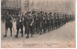 1914 Arrivée Des Troupes De La Nouvelle Zélande , écrite Le 19/02/16 , Cachet Trésor Et Postes 34 , Carte Avec Plis - Guerre 1914-18