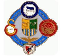 Badge Pin: UEFA CUP 2008-09 Group B : Hertha BSC, Metalist, Galatasaray SK, Olympiakos, SL Benfica - Football