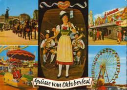 Austria - Postcard  Used 1976 - Munchen - Grusse Vom Oktoberfest - 2/scans - Muenchen