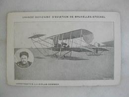 AVIATION - Grande Quinzaine D'aviation De Bruxelles-Stockel - Verstraeten Sur Biplan Sommer - Fliegertreffen