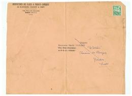 GRAND FRAGMENT MANUFACTURE DES GLACES St GOBAIN SIEGE PARIS Pour YVERDON SUISSE - 1893-1947