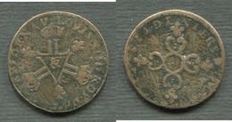 LOUIS XIV - 6 DENIERS DARDENNE -  AIX EN PROVENCE - 1643-1715 Louis XIV Le Grand