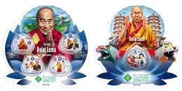 SOLOMON Isl. 2016 - Dalai Lama - YT CV=25 €, 5257-60 + BF563 - Buddhism