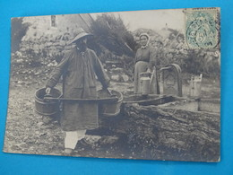 39 ) Les Planches - La Perrena :  Carte Photo - Transport De L'eau   - Année 1906  :  EDIT : - Autres Communes