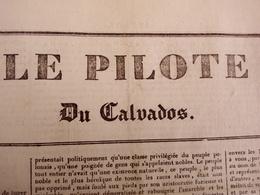 1836 PRISON DE BEAULIEU À CAEN - PEINE DE MORT - LION SUR MER - MONT SAINT MICHEL - LE PILOTE DU CALVADOS N° 132 - Historical Documents