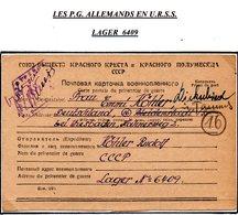 RUSSIE CCCP PRISONNIER DE GUERRE EN FRANCHISE DE LAGER 6409 POUR L'ALLEMAGNE DU 18/06/1947 AVEC CENSURE  PRIX FIXE !!! - Dokumente