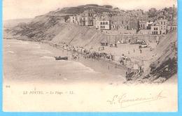 Le Portel Pas-de-Calais)-+/-1900-Précurseur-La Plage Et Ses Cabines De Bain-Barque-café-Restaurant - Le Portel