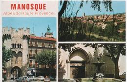 Cpsm 04 MANOSQUE Multivues- Voitures Des Années 60.. - Manosque