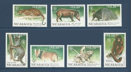 Nicaragua 1990 Yv. 1551/1557 ** 45è Anniversaire De La FAO. Animaux De La Foret Animals Of The Forest - See Description - Nicaragua
