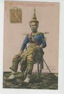 ASIE - CAMBODGE - Sa Majesté SISOWATH , Roi Du Cambodge En Grand Costume De Couronnement - Cambodia