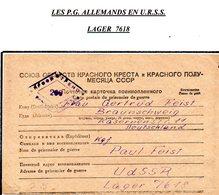 RUSSIE CCCP PRISONNIER DE GUERRE EN FRANCHISE DE LAGER 7618 POUR L'ALLEMAGNE DU 26/10/1947 AVEC CENSURE  PRIX FIXE !!! - Dokumente