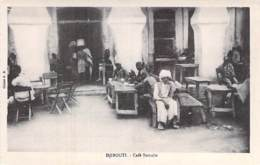 45 - DJIBOUTI - Café Somalis - CPA Afrique Noire Black Africa - Djibouti