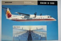 Avion / Airplane /  Boeing Canada  / De Havilland Dash 8-300/ Airline Issue / Size: 11,5X16,5 Cm - 1946-....: Ere Moderne
