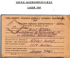 RUSSIE CCCP PRISONNIER DE GUERRE EN FRANCHISE DE LAGER 7465 POUR L'ALLEMAGNE DU 07/11/1947 AVEC CENSURE  PRIX FIXE !!! - Dokumente