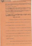 """WW2 EPURATION-""""LEGION TRICOLORE"""" ACTE De TRAHISON Contre Le Gal Eugène BLANC Et Le Col. Justin MAGNIN - Historical Documents"""
