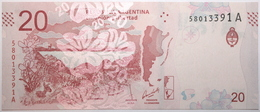 Argentine - 20 Pesos - 2017 - PICK 361a - NEUF - Argentine