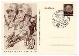 Im Kampf Um Die Freiheit Ganzsache Elsass Tag Der Briefmarke 1941 - Covers & Documents