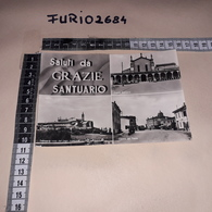 C-92400 GRAZIE CURTATONE MANTOVA SALUTI DA GRAZIE SANTUARIO PANORAMA VEDUTE CENTRO PAESE DISTRIBUTORE BENZINA OZO - Other Cities