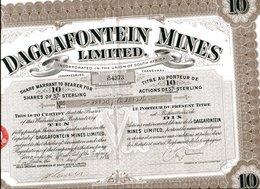 DAGGAFONTEIN MINES, Limited; Ten Shares - Mines