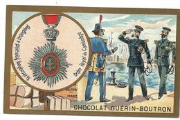 CHROMO ANCIEN  - Médaille Ordre Royal Du CAMBODGE - Pub Chocolay Guérin-Boutron - Cambodia