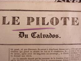 1836 PRISON DE BEAULIEU À CAEN - FACULTÉ DES LETTRE DE CAEN - SAINT MARTIN DE SALLENT  - LE PILOTE DU CALVADOS N° 131 - Historical Documents