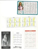 Lotticino  Piccoli  Calendari  --anno 2003-1989---2003--2001--2001--escort Raro - Calendars