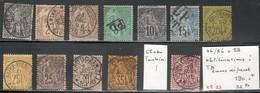 Colonies Générales Yvert 46/56 + 58 Oblitérations! TB Sans Défaut Cote EUR 190+(KE83) - Alphée Dubois