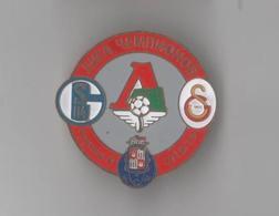 Badge Pin:UEFA CUP 2005-06 Group D Lokomotiv, Porto, Schalke 04, Galatasaray SK - Football