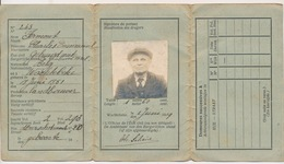 WACHTEBEKE CARTE D'INDENTITE  MEERSCHSTRAAT 20  LANDBOUWER  2 AFBEELDINGEN - Historical Documents