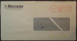 Belgium - Advertising Meter Franking Cover 1984 Antwrpen Mercator - Franking Machines