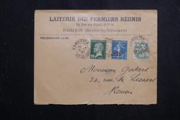 FRANCE - Enveloppe Commerciale De Rouen Pour Rouen En 1927, Affranchissement Plaisant - L 61583 - 1921-1960: Modern Tijdperk
