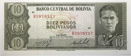 Bolivie - 10 Pesos Bolivianos - 1962 - PICK 154a.17 - NEUF - Bolivie