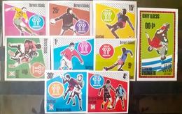 Bernera Island  , Soccer,football, World Cup Argentina 1978 Set Imperfect+ Bl. Mnh - Erinnophilie
