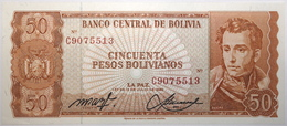 Bolivie - 50 Pesos Bolivianos - 1962 - PICK 162a.20 - NEUF - Bolivie