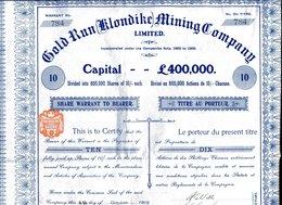GOLD RUN (Klondike) MINING COMPANY, Limited - Mines