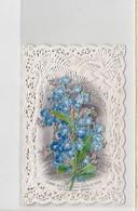 Image Pieuse Ajoutis Découpis Fleurs / Image Dentelle Bouasse / Circa1880 - Old Paper