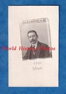 Photo Ancienne Sur Carte De Visite - Portrait Homme Type Photomaton - 1920 - Bohaud Foulon Trilport Soissons Mode - Foto
