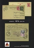 Cataloog Karel Vander Mijnsbrugge -10% Opdruk/surcharge/print Van Acker 1946 - 1946 -10%