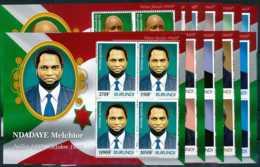 NB - [32028]SUP//**/Mnh-c:99e-N° 1496/1539 Yvert, Présidents Du Burundi, 11 Blocs, 44 Valeurs - Burundi