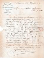 1872 - Ste BARBE & SAVERNE - Manufacture D'INSTRUMENTS De PESAGE - KUHN Frères & VAUCONSANT - Documents Historiques