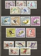 Emirats - Kathiri - Mahra - Ras Al Khaima - Jeux Olympiques D'hiver De Grenoble 1968 - Petit Lot De 17° - Timbres