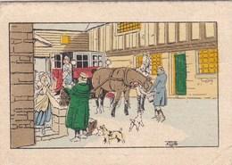 """37. TOURS. CALENDRIER ANNEE 1932. ILLUSTRATION SIGNEE. PUBLICITE """" MAISON DU BLANC """" L. LEMARIE. FORMAT 8 X 5.5 - Calendars"""