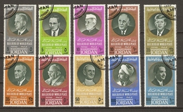 Jordanie 1967 - Bâtisseurs De La Paix - Série Complète° - Sc 534a-i - Hammarskjold - U Thant - Nehru - De Gaulle - Kenne - Jordan