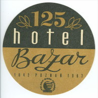 Etiquette Valise Hotel BAZAR Poznan Pologne  Luggage Label Poland - Adesivi Di Alberghi