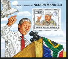 NB - [33232]SUP//**/Mnh-c:17e-BL374 Yvert, 95eme Anniversaire De Nelson Mandela - Burundi