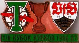 "Badge Pin: UEFA Cup Winners' Cup 1978-79   FC Torpedo Moskva USSR - "" VfB Stuttgart "" Germany - Football"