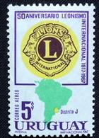 1968 URUGUAY MNH AIR MAIL Yvert A334 - 50 Years International Lions - Leonism International Leonismo - Uruguay